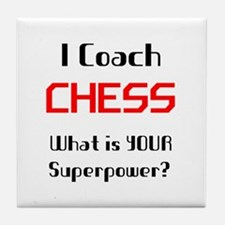 coach chess Tile Coaster