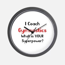 coach gymnastics Wall Clock