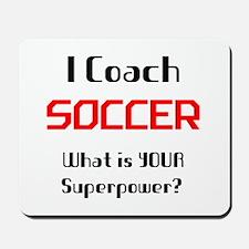 coach soccer Mousepad