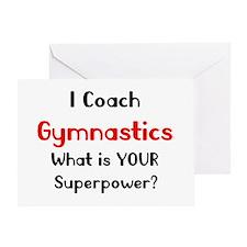 coach gymnastics Greeting Card