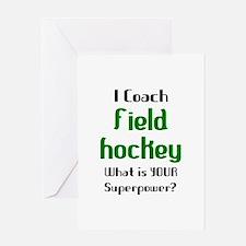 coach field hockey Greeting Card