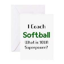 coach softball Greeting Card