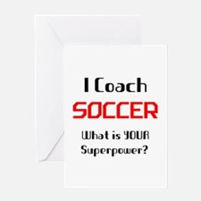 coach soccer Greeting Card