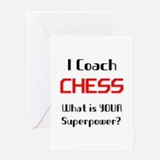 coach chess Greeting Card