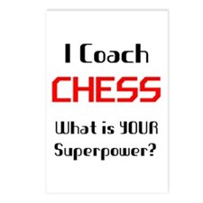 coach chess Postcards (Package of 8)