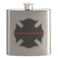 Cute Thin red line Flask