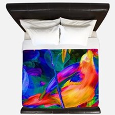 Paradise Bird Vibrant Art King Duvet