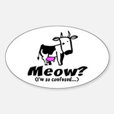 Meow? I'm so confused ~ When Oval Decal