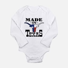 Cute Texas flag Long Sleeve Infant Bodysuit