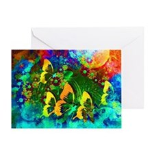 Funny Butterfly Greeting Card