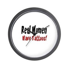 Real women have tattoos! Wall Clock