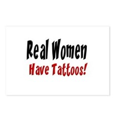 Real women have tattoos! Postcards (Package of 8)