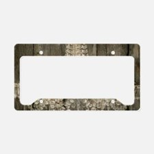 shabby chic rustic chandelier License Plate Holder