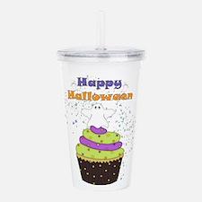 Ghostly Halloween Cupc Acrylic Double-wall Tumbler