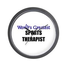 Worlds Greatest SPORTS THERAPIST Wall Clock