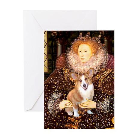 The Queen's Corgi Greeting Card