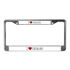 Heart Doulas License Plate Frame