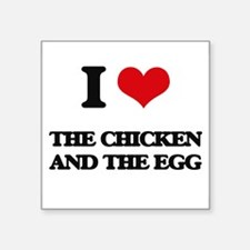 """Cute I love ham and eggs Square Sticker 3"""" x 3"""""""