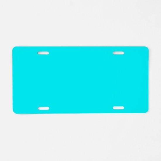 JUST COLORS: TURQ Aluminum License Plate