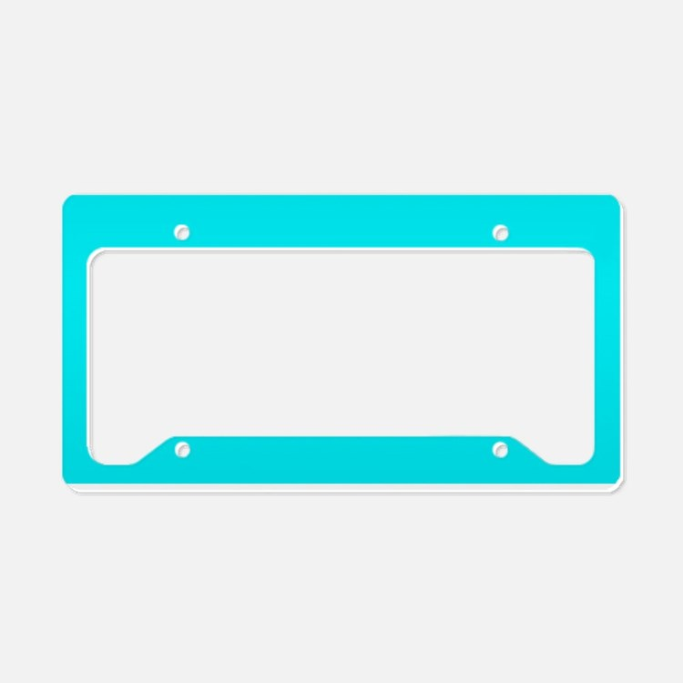 just colors turq license plate holder