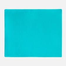 JUST COLORS: TURQ Throw Blanket