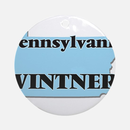 Pennsylvania Vintner Round Ornament