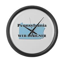 Pennsylvania Web Designer Large Wall Clock