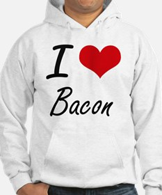 I Love Bacon artistic design Hoodie
