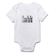 Unique I'm so fat Infant Bodysuit