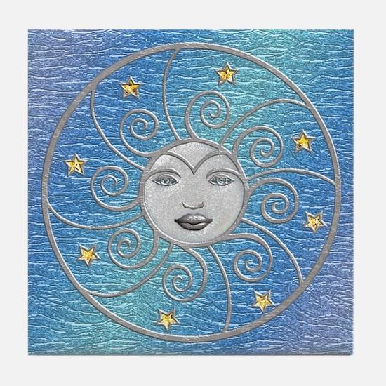 Harvest Moons Silver Moon Tile Coaster