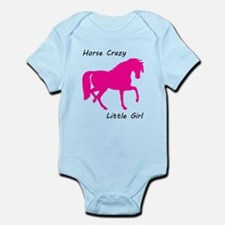 Horse Crazy Little Girl - Pink Body Suit