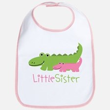 Alligator Little Sister Bib