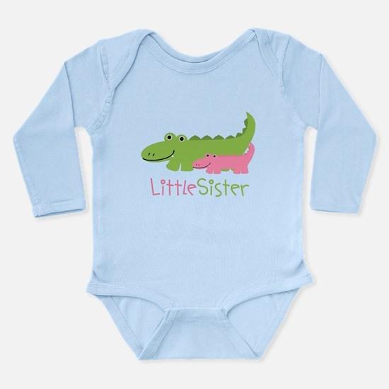Alligator Little Siste Long Sleeve Infant Bodysuit