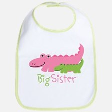 Alligator Big Sister Bib