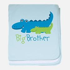 Alligator Big Brother baby blanket
