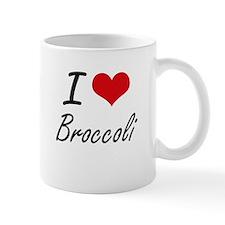 I Love Broccoli artistic design Mugs