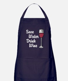 Drink Wine Apron (dark)