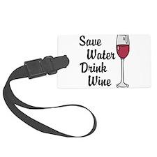 Drink Wine Luggage Tag