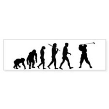 Evolution of Golf Bumper Bumper Sticker