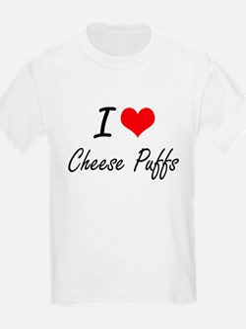 I Love Cheese Puffs artistic design T-Shirt