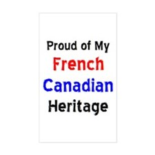 french canadian heritage Decal