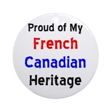 french canadian heritage Ornament (Round)