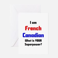 i am french canadian Greeting Card
