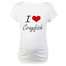 I Love Crayfish artistic design Shirt