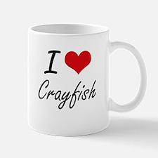 I Love Crayfish artistic design Mugs