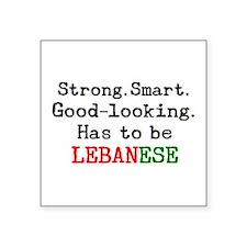 "be lebanese Square Sticker 3"" x 3"""