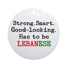 be lebanese Ornament (Round)