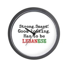 be lebanese Wall Clock