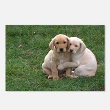Yellow Lab Pups Postcards (Package of 8)
