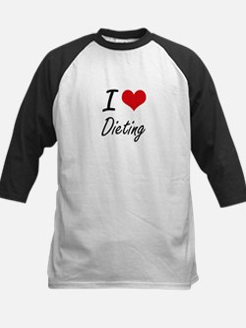 I Love Dieting artistic design Baseball Jersey